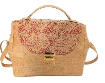 Handbag Cork with removable strap handle