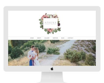 Wix Website design, wedding florist website, vintage flowers, website template, website design, florist website WEBSITE 4877
