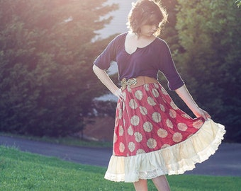 Harmony's Women's Twirly Lace Skirt PDF Sewing Pattern sizes XS-XL