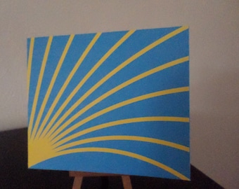 POP UP to two colors: yellow and blue card