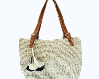 Natural Grass Tote Bag