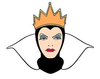 Evil Queen Bust - Snow White - svg, pdf, png file