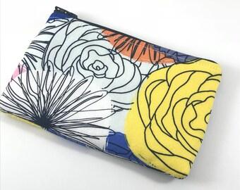 Zipper Coin Purse Pouch Holdee Modern Floral