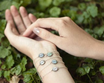 Custom word bracelet, Inspirational women gift, Mothers day gift, Tiny charm bracelet, Custom gift for mom, Mindfulness gift, Personalized