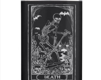 Death Card hip flask