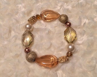 Golden Glam Beaded Bracelet