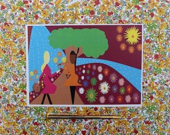 November, Chrysanthemum, Eco Friendly, Birthday Card,LIMITED EDITION