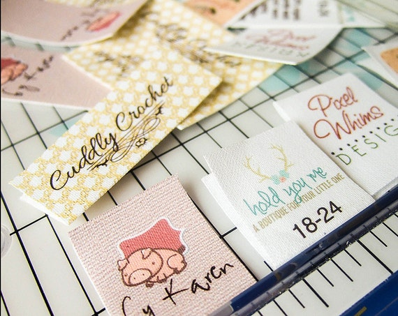 fabric labels for handmade items fold custom fabric labels or tags custom sizes your 6842