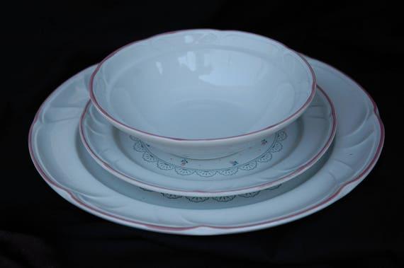 & Victoriana Japan Dinnerware Set for 6 vintage serving set