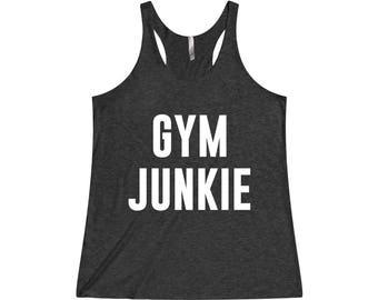 Gym Junkie - Funny Workout Tank, Fitness Tank, Funny Gym Tank, Gym Tank Top, Gym Tank, Workout Tank Top, Gym Shirt, Gym Tank Top