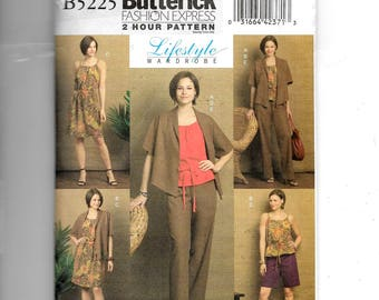 Butterick Misses' Jacket, Top, Dress, Shorts and Pants Pattern 5225