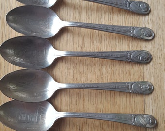 7 presidential spoons, sold as a set, International Silver Wm. Rogers