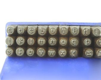 """Proops 27 Piece Metalwork Stamp, Lower Case Letter Stamps, Punches, 3mm 1/8"""". (M9030) Free UK Postage"""