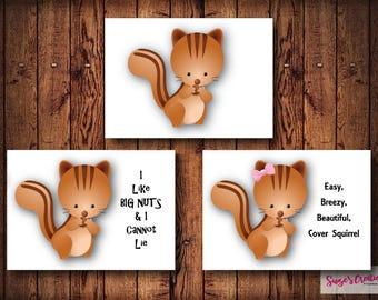Printable Squirrel Postcard