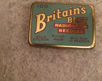 Antique Gramophone  Phonograph Needles In Tin Box - Britains Best