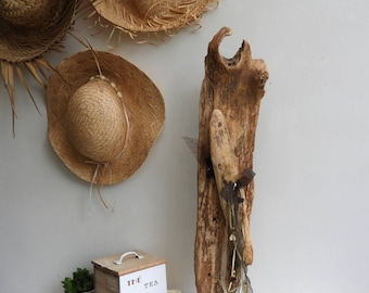 Driftwood lamp on foot-accent lamp in wood-light Driftwood - Decoration Driftwood - gift idea mothers day