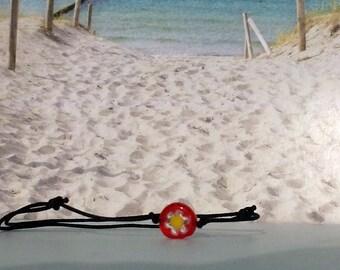 Nylon Bracelet-Glass bead-Surferarmband-pearl-beach-yoga-outdoor-fitness-flower-Silvana-beach-jewellery-Beach poems