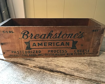 Antique Cheese Box, Breakstone Cheese box, Vintage Cheese crate