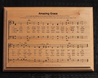 Amazing Grace Alder Plaque