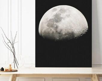 moon canvas, moon photo, moon decor, moon wall art, moon picture, moon wall decor