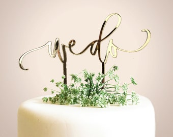 We Do Cake Topper - Laser Cut Calligraphy Cake Topper - Hawaii Calligraphy