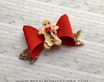 Gingerbread hair bow