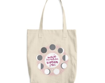 Moon Phase  - Cotton Tote Bag