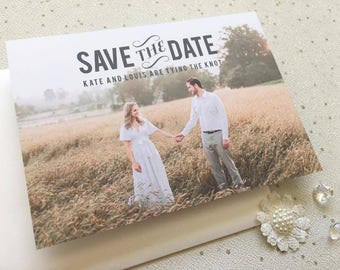 Sofia Rustic Save The Date Postcard | Country Style Wedding Save The Date perfect for a Barn Wedding | Custom colours available