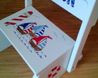 Personalized Sailboat Stepstool
