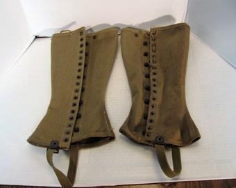 Military Leggings from WW II