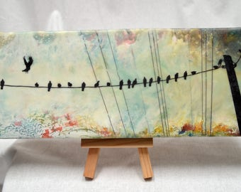 "encaustic art: ""Room for one more"" - photo transfer, fine art"