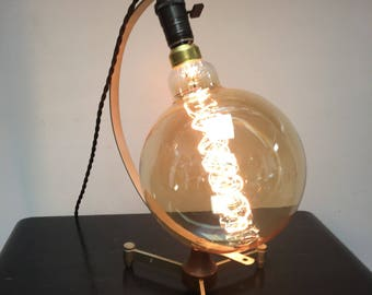 Giant 12-Inch Edison Bulb Lamp with Mid-Century Modern Base