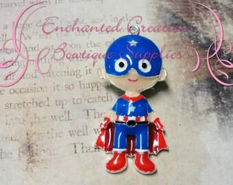 """2"""" Adorable Enamel Captain America Inspired Pendant, Keychain, Zipper Pull"""