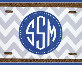 Personalized Monogrammed License Plate Car Tag, Monogram License Plate, Personalized License Plate, Monogram Car Tag