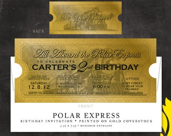 POLAR EXPRESS . birthday invitation