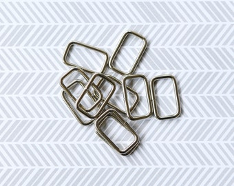 20 Pieces of Small Silver Rectangular Rings  ATN00096