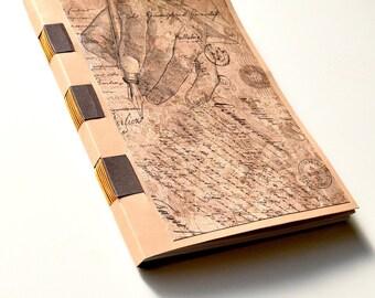 Victorian Cross Bound Blank Book, Victorian Journal