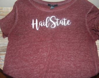 Hail State Mississippi State Crew College T-Shirt
