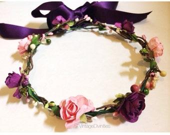 Purplink Rose Crown