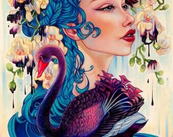 Dark side limited edition glicee print pop surrealism art lowbrow a4