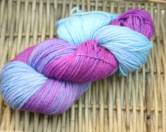 DYED TO ORDER Broken Violet Worsted Weight Yarn (100% Peruvian Highland Wool)
