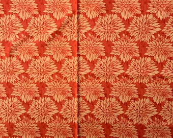 """1 coupon very nice fabric patterned flower """"Dahlia"""""""