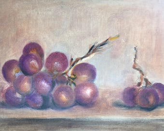 Grapes - oil painting
