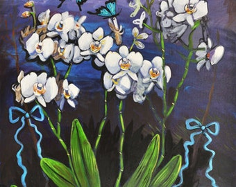White Orchids - Print