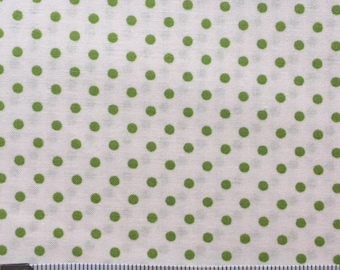 Lakehouse Dry Goods Poka Green 1930's Reproduction Quilt Fabric