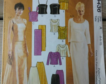 Sewing Pattern Uncut McCalls 3436 Size 6, 8, 10 Evening Elegance