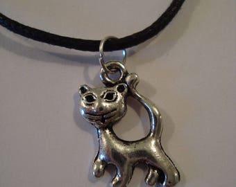 Fancy cat silver jewelry set