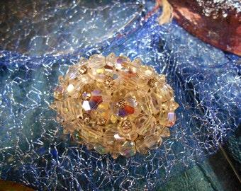Crystal Rhinestone Brooch