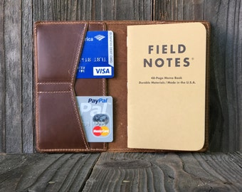 Field Notes Leather Cover - Journal Cover - Pull-up Cognac