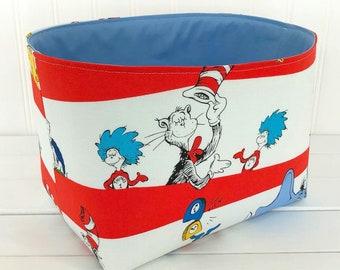 Dr Seuss Nursery Decor Storage Basket Baby Toy Storage Home Decor Organizer Room Decor Baby Shower Gift Dr. Seuss
